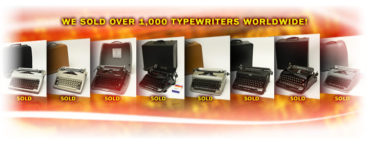 We sold over 1,000 Restored Vintage Manual Typewriters Worldwide