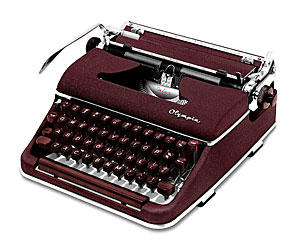 Burgundy Olympia SM3 De Luxe Manual Typewriter