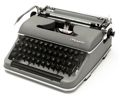 Assembled Olympia Manual Typewriter