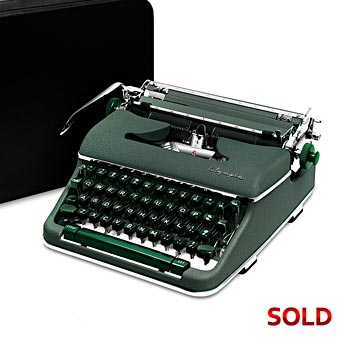 Green 1959 Olympia SM4 S Manual Typewriter with Case (10 characters/inch) #1016