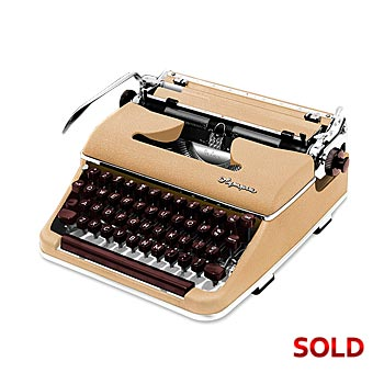 Cream 1955 Olympia SM3 De Luxe Manual Typewriter with Case (10 characters/inch) #1037