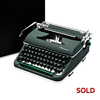 Green 1960 Olympia SM4 S Manual Typewriter with Case (10 characters/inch) #1048