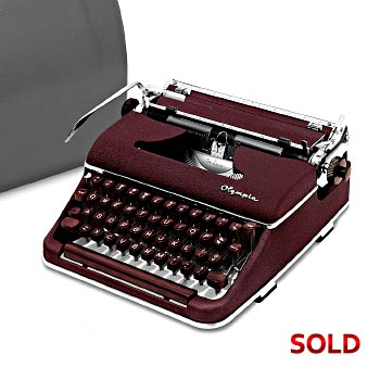 Burgundy 1957 Olympia SM3 De Luxe Manual Typewriter with Case (11 characters/inch) #1050