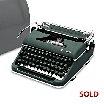 Green 1959 Olympia SM3 De Luxe Manual Typewriter with Case (10 characters/inch) #1051