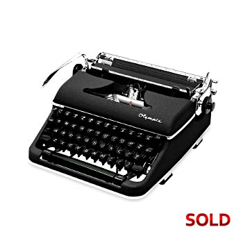 Black 1960 Olympia SM4 Manual Typewriter with Case (11 characters/inch) #1090