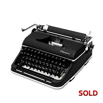 Black 1953 Olympia SM2 Manual Typewriter with Case (Pica 10 characters/inch) #1101