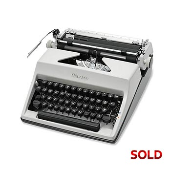 Gray 1968 Olympia SM8 De Luxe Manual Typewriter with Case (Pica 10 characters/inch) #1132