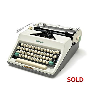 White 1964 Olympia SM8 Manual Typewriter with Case (Elite 11 characters/inch) #1140
