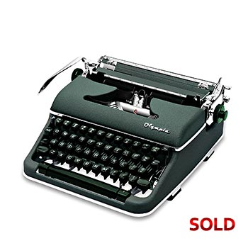 Green 1959 Olympia SM4 Manual Typewriter with Case (Pica 10 characters/inch) #1144