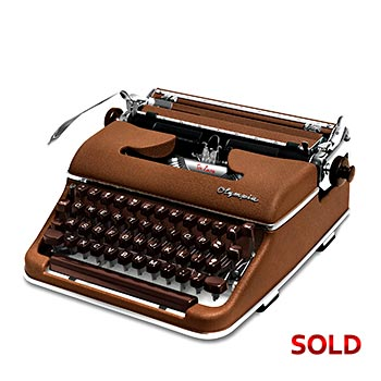 Brown 1958 Olympia SM3 De Luxe Manual Typewriter with Case (Pica 10 characters/inch) #1145