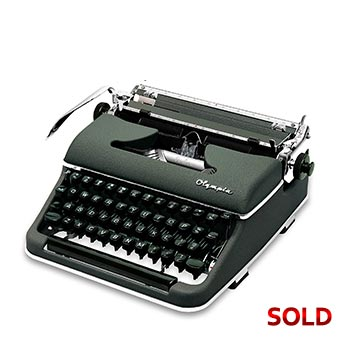 Green 1954 Olympia SM3 De Luxe Manual Typewriter with Case (Elite 11 characters/inch) #1149