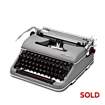 Gray 1961 Olympia SM4 Manual Typewriter with Case (10 characters/inch) #1061