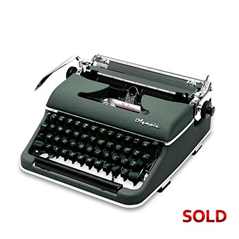 Green 1956 Olympia SM3 De Luxe Manual Typewriter with Case (Pica 10 characters/inch) #1162