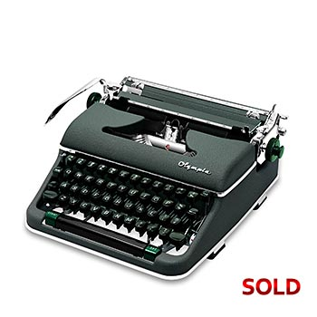 Green 1960 Olympia SM4 Manual Typewriter with Case (Pica 10 characters/inch) #1164