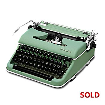Light-Green 1960 Olympia SM4 S Manual Typewriter with Case