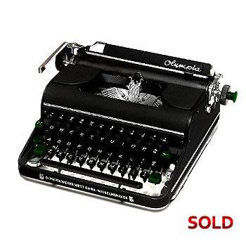 Black 1951 Olympia SM1 Manual Typewriter with Case