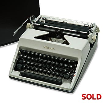 Gray 1968 Olympia SM9 De Luxe Manual Typewriter with Case