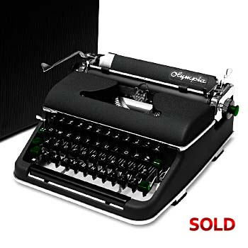 Black 1951 Olympia SM2 Manual Typewriter with Case