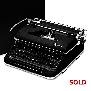 Black 1960 Olympia SM4 S Manual Typewriter with Case (10 characters/inch) #974