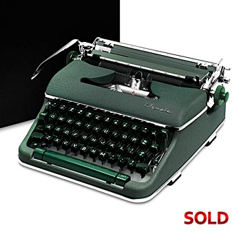 Green 1960 Olympia SM4 S Manual Typewriter with Case (11 characters/inch) #980